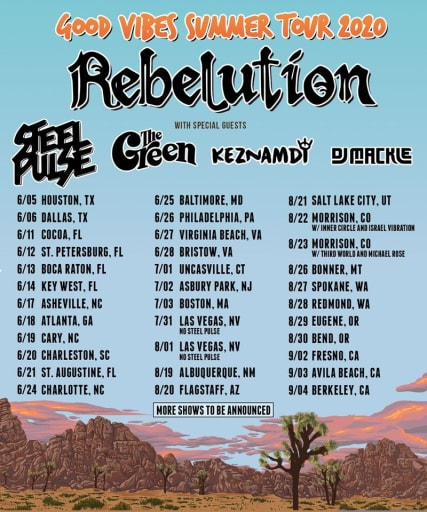 Rebelution, Steel Pulse & The Green at Pacific Amphitheatre