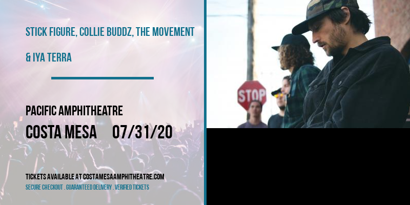 Stick Figure, Collie Buddz, The Movement & Iya Terra [CANCELLED] at Pacific Amphitheatre